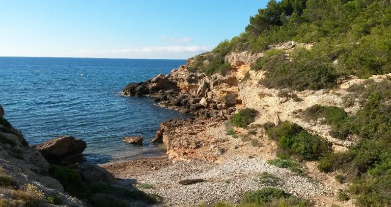 Cala Cementiri para perros en Ametlla de Mar