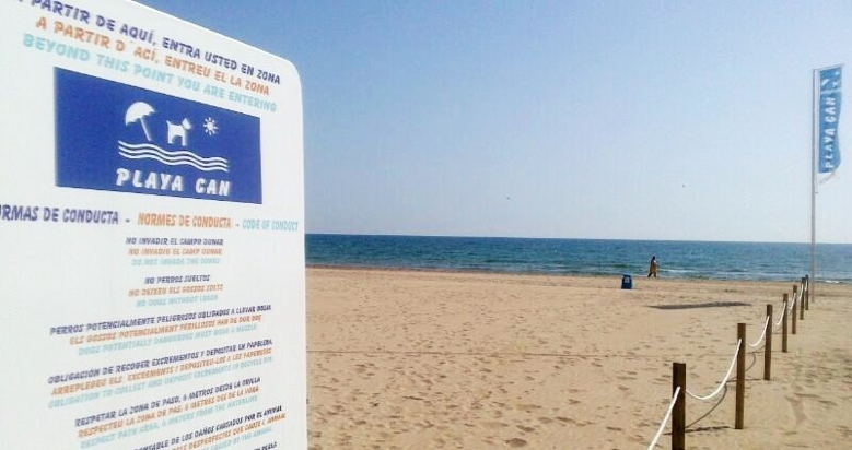 Playa Can Gandía Playa para perros