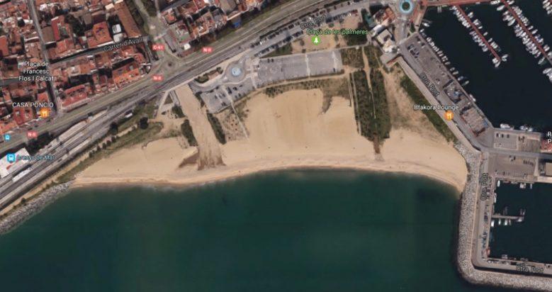 playa la picordia para perros en Arenys de Mar